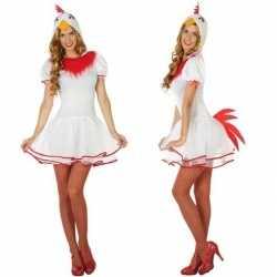 Dieren verkleed jurkje kip/hen goedkoop voor dames