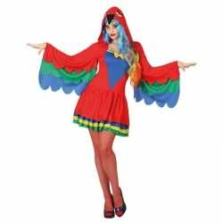 Dieren verkleed jurkje papegaai goedkoop voor dames