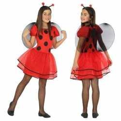 Dierenpak lieveheersbeestje verkleed jurk/jurkje goedkoop voor meisje