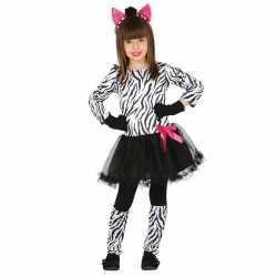 Dierenpak zebra verkleedjurkje goedkoop voor meisjes