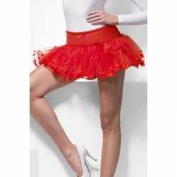 Duivel verkleedaccessoire tutu jurkje rood goedkoop voor dames