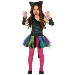 Gekleurd luipaard jurkje goedkoop voor meisjes