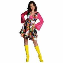 Gekleurde hippie jurkje goedkoop voor dames