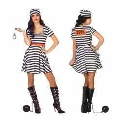 Gevangene/boef bonnie verkleed kostuum/jurkje goedkoop voor dames