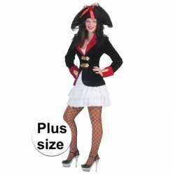 Grote maat piraten jurkje en colbert goedkoop voor dames