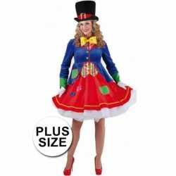 Grote maten clowns jurkje Lucky goedkoop voor dames