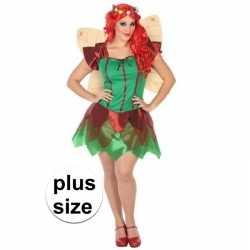 Grote maten toverfee/elfen jurkje verkleed kostuum goedkoop voor dame
