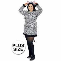 Grote maten zebra jurkje goedkoop voor dames
