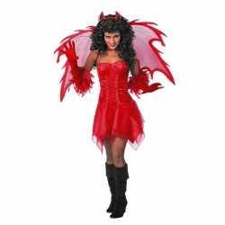 Halloween Feest jurkje rood goedkoop voor dames