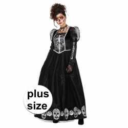 Halloween grote maat day of the dead halloween gothic jurkje goedkoop