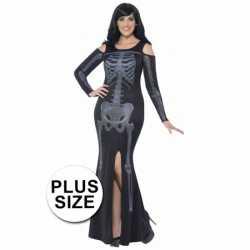 Halloween Grote maten skelet jurkje goedkoop voor dames