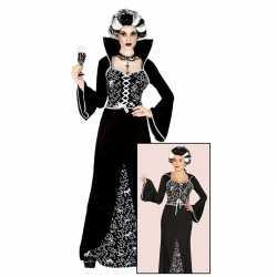 Halloween luxe vampieren jurkje zwart/wit goedkoop voor dames