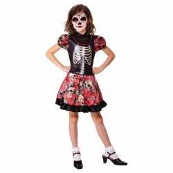 Halloween mexicaanse dag van de dood jurkje goedkoop voor meisjes