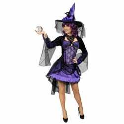 Halloween Paarse heksenjurkje goedkoop voor dames