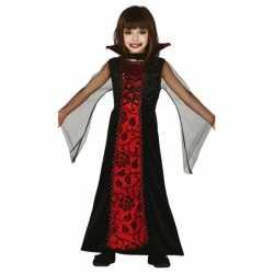 Halloween Rode vampieren jurkje goedkoop voor meisjes