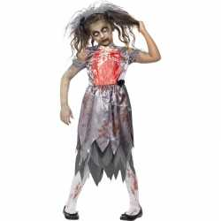 Halloween zombie bruidsjurkje goedkoop voor meiden