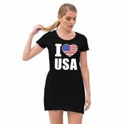 I love usa jurkje zwart goedkoop voor dames