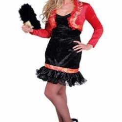 Luxe spaanse jurkje zwart goedkoop rood