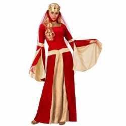 Middeleeuwse koningin verkleed jurkje goedkoop voor dames