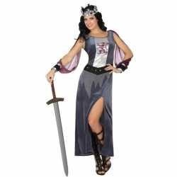 Middeleeuwse koningin victoria verkleed kostuum/jurkje goedkoop voor