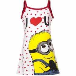 Minions jurkje wit/rood goedkoop voor meisjes