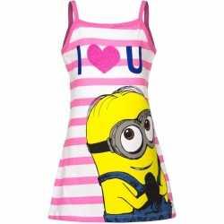 Minions jurkje wit/roze goedkoop voor meisjes