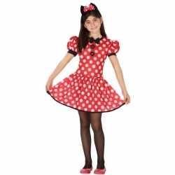 Muizen jurkje rood goedkoop stippen goedkoop voor meisjes