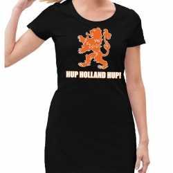 Nederland supporter jurkje hup holland hup zwart goedkoop voor dames