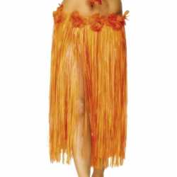 Oranje Hawaii jurkje goedkoop bloemen