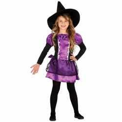 Paars heksenjurkje goedkoop strikje goedkoop voor kinderen