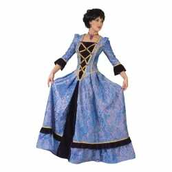 Paars/zwarte jonkvrouw verkleed jurkje goedkoop voor dames