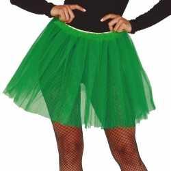 Petticoat/tutu verkleed jurkje groen 40 cm goedkoop voor dames