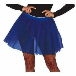 Petticoat/tutu verkleed jurkje kobalt blauw 40 cm goedkoop voor dames
