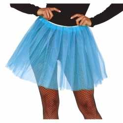 Petticoat/tutu verkleed jurkje lichtblauw 40 cm goedkoop voor dames