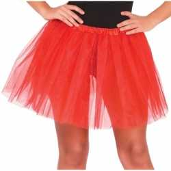 Petticoat/tutu verkleed jurkje rood 40 cm goedkoop voor dames
