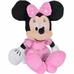 Pluche disney minnie mouse knuffel goedkoop roze jurkje 19 cm speelgoed