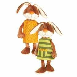 Pluche knuffel konijntje goedkoop verwisselbaar jurkje 40 cm