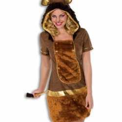 Pluche leeuwen jurkje goedkoop voor dames