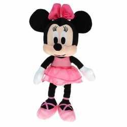 Pluche minnie mouse knuffel ballerina goedkoop roze jurkje 40 cm