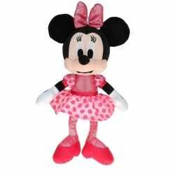 Pluche minnie mouse knuffel ballerina goedkoop stippen jurkje 40 cm