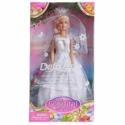 Pop lucy prinses goedkoop witte jurk