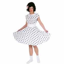 Rock n roll jurkje wit goedkoop zwart
