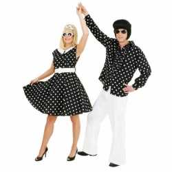 Rock n roll jurkje zwart goedkoop wit