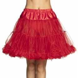 Rode petticoat jurkje goedkoop voor dames 45 cm