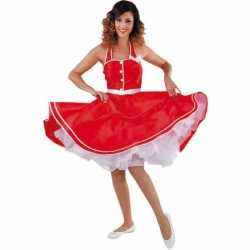 Rode rock en roll jurkje goedkoop voor dames