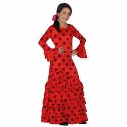Rode Spaanse jurkje goedkoop voor kinderen