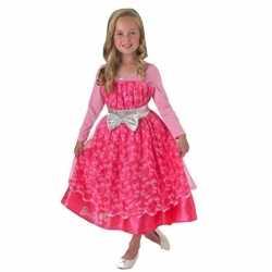 Roze barbie deluxe jurkje goedkoop voor meisjes