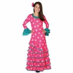 Roze Flamenco jurkje goedkoop voor meiden