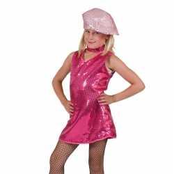 Roze jurkje goedkoop pailletten kinderen