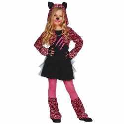 Roze luipaard jurkje goedkoop voor meisjes